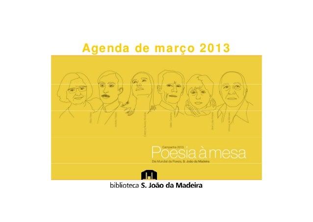 Agenda de março 2013
