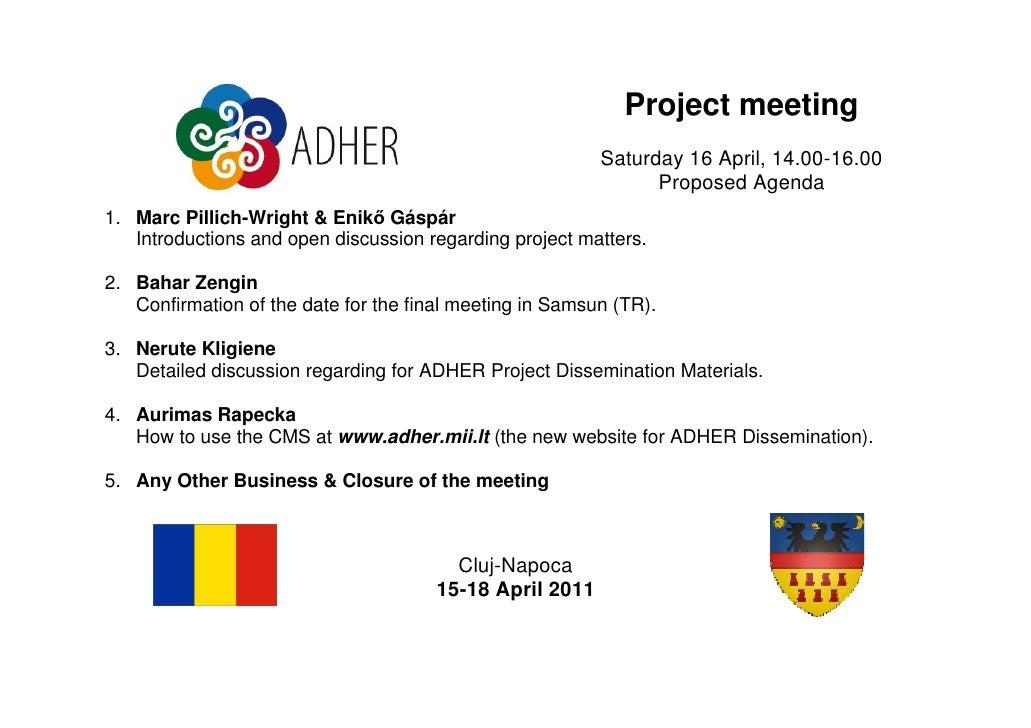 Project meeting                                                          Saturday 16 April, 14.00-16.00                   ...