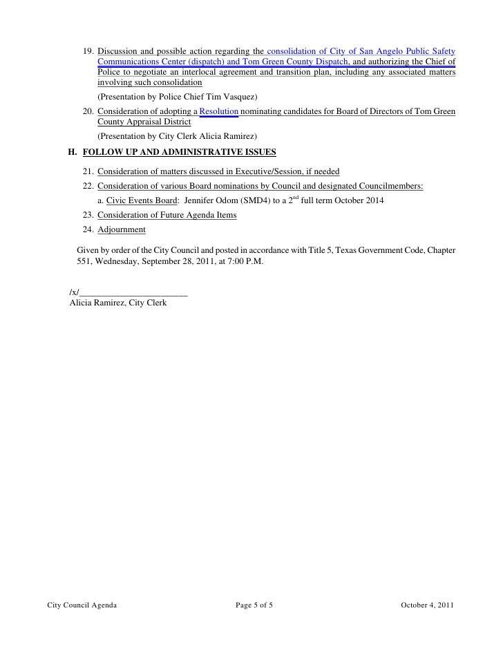 City Council October 4 2011 Agenda Packet