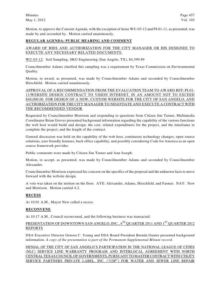 May 15 2012 Agenda Packet