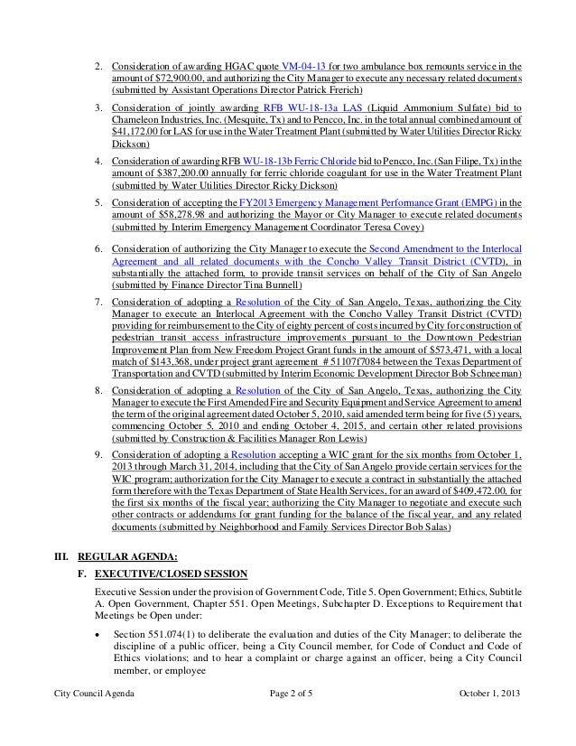 October 1 2013 Agenda Packet