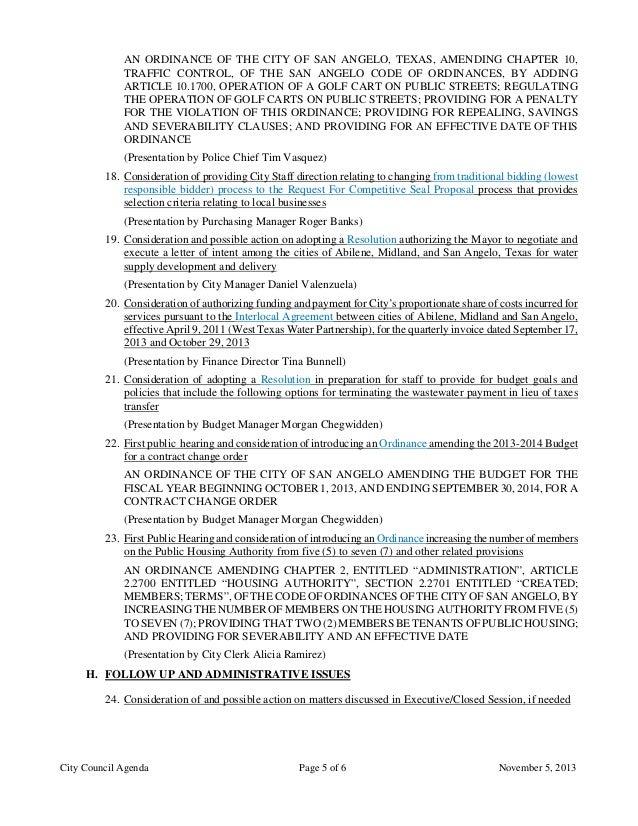 November 5 2013 Agenda Packet