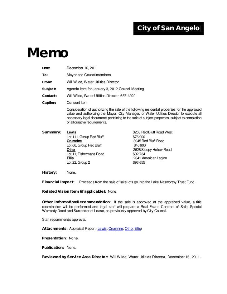 City Council January 3, 2012 Agenda Packet