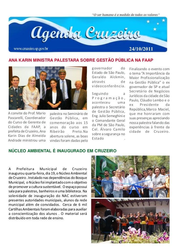 www.cruzeiro.sp.gov.br                                                       24/10/2011ANA KARIN MINISTRA PALESTARA SOBRE ...