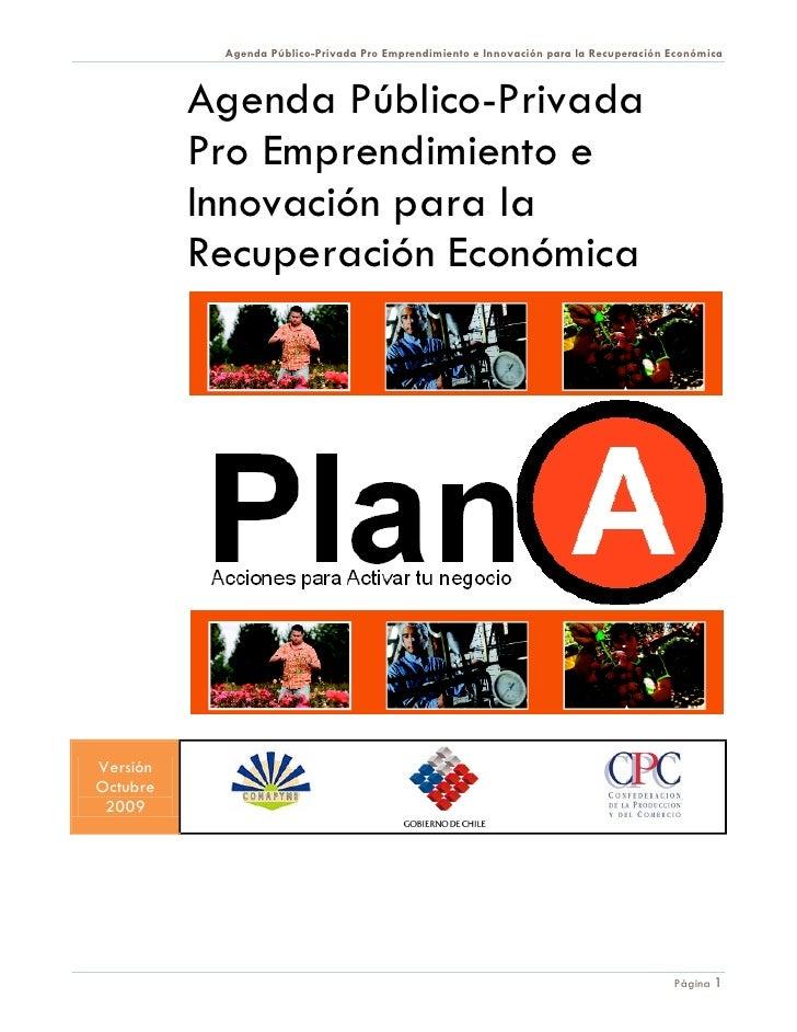 Agenda Público-Privada Pro Emprendimiento e Innovación para la Recuperación Económica              Agenda Público-Privada ...