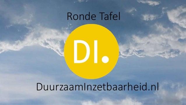 DuurzaamInzetbaarheid.nl Ronde Tafel