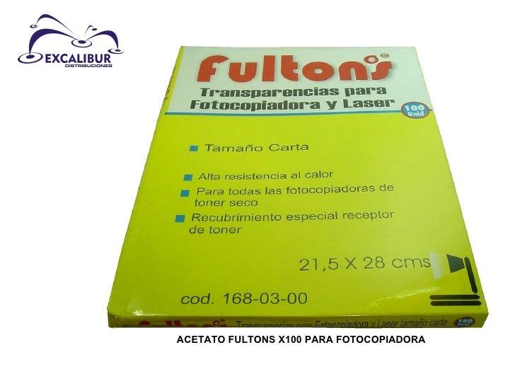 ACETATO FULTONS X100 PARA FOTOCOPIADORA
