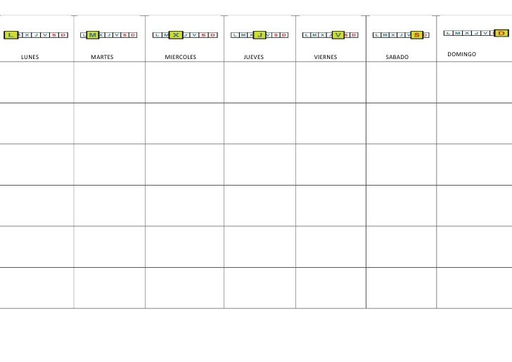 Agenda Semanal En Blanco Para Personalizar