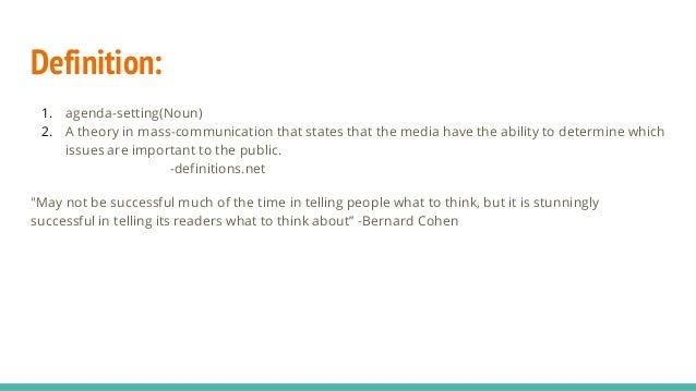 agenda setting theory of mass communication pdf