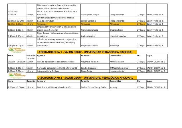 Agenda SFD Bogotá 2013 - 27 y 28 de Septiembre Slide 2
