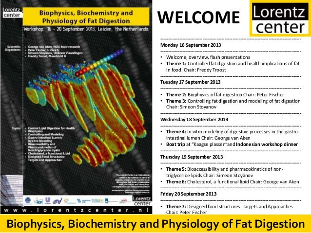 Biophysics, Biochemistry and Physiology of Fat DigestionBiophysics, Biochemistry and Physiology of Fat Digestion WELCOME -...