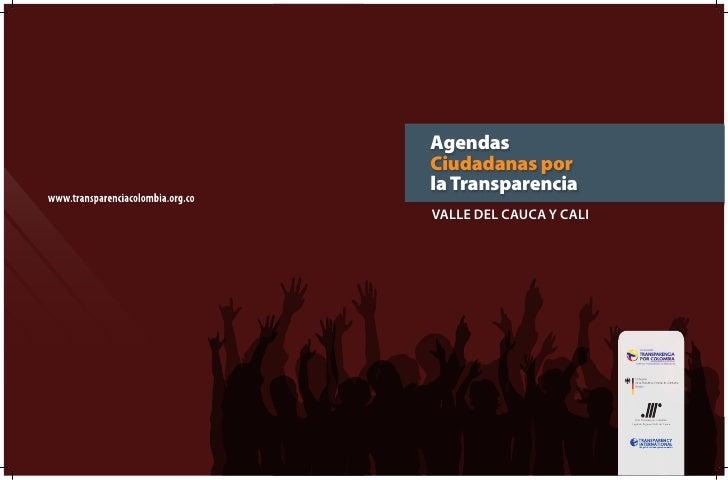 AgendasCiudadanas porla TransparenciaValle del CauCa y Cali
