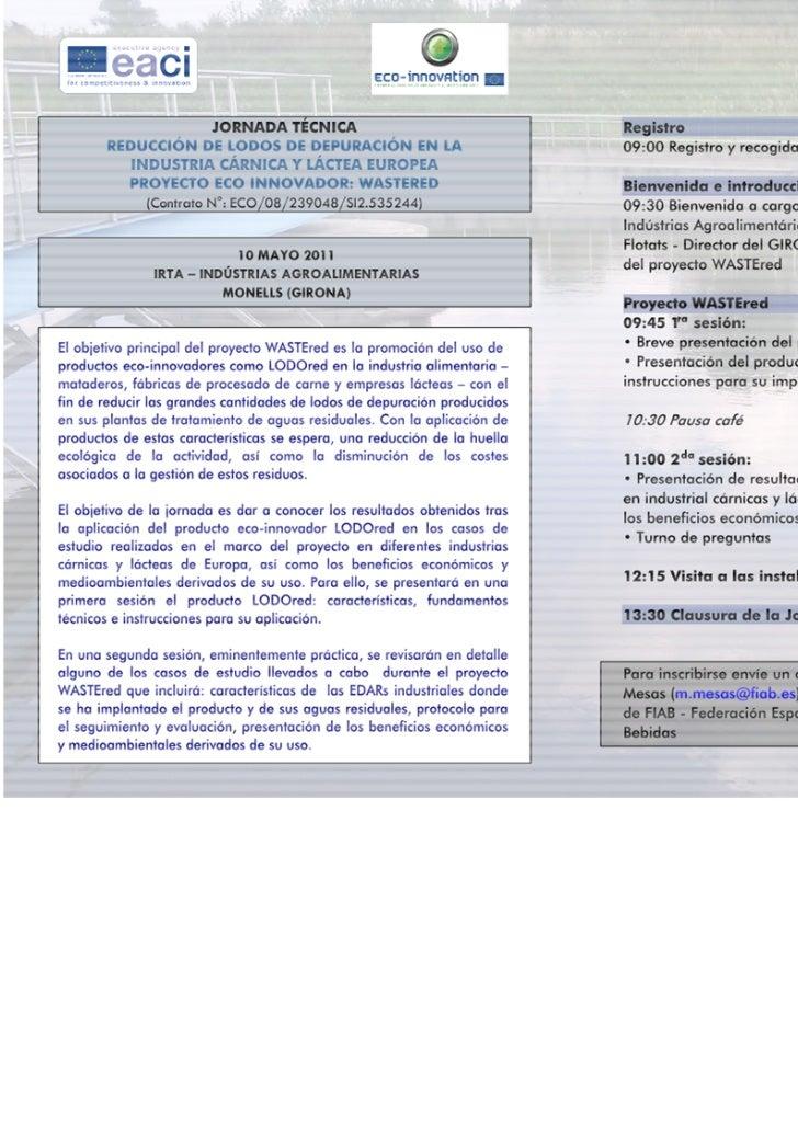 Agenda worshop IRTA 100511