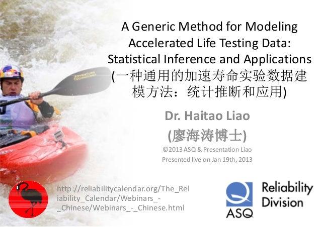 AGenericMethodforModeling                A Generic Method for Modeling                  AcceleratedLifeTestingData...
