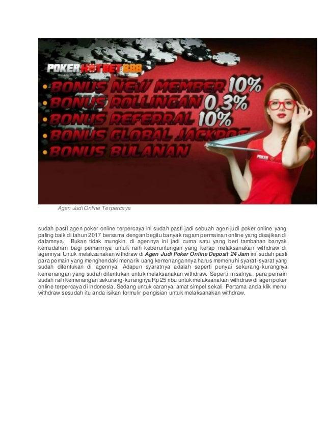 Agen judi poker online deposit 24 jam
