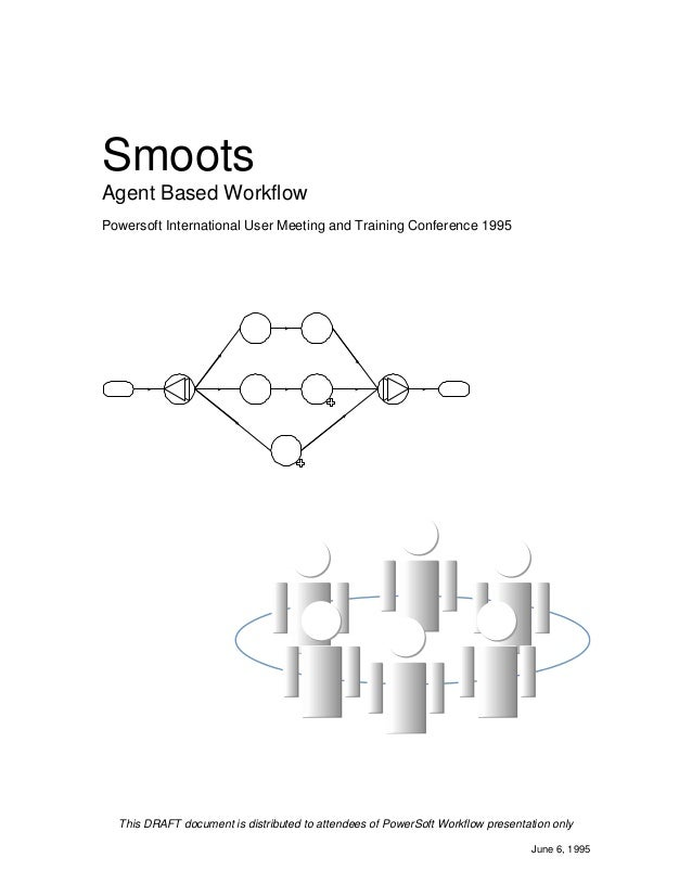 Smoots Agent Based Workflow Powersoft International User Meeting and Training Conference 1995 This DRAFT document is distr...