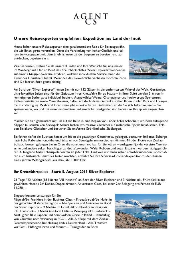 Unsere Reiseexperten empfehlen: Expedition ins Land der InuitHeute haben unsere Reiseexperten eine ganz besondere Reise fü...