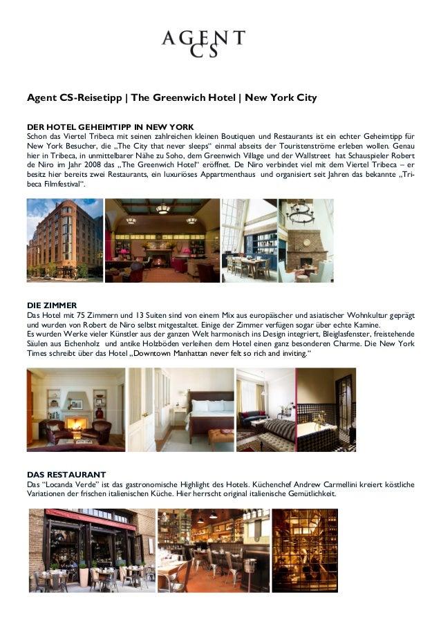 Agent CS-Reisetipp | The Greenwich Hotel | New York CityDER HOTEL GEHEIMTIPP IN NEW YORKSchon das Viertel Tribeca mit sein...