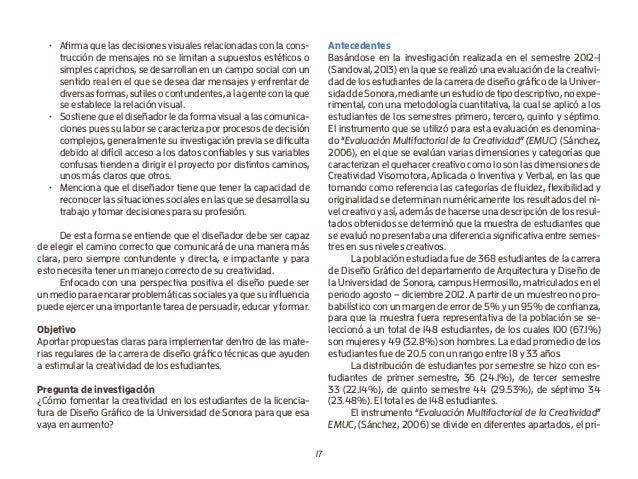 17 • Afirma que las decisiones visuales relacionadas con la cons- trucción de mensajes no se limitan a supuestos estético...