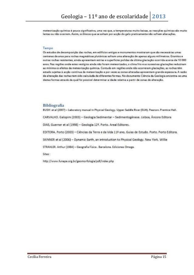 Geologia – 11º ano de escolaridade 2013Cecília Ferreira Página 15