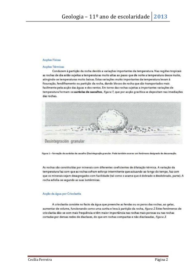 Geologia – 11º ano de escolaridade 2013Cecília Ferreira Página 2