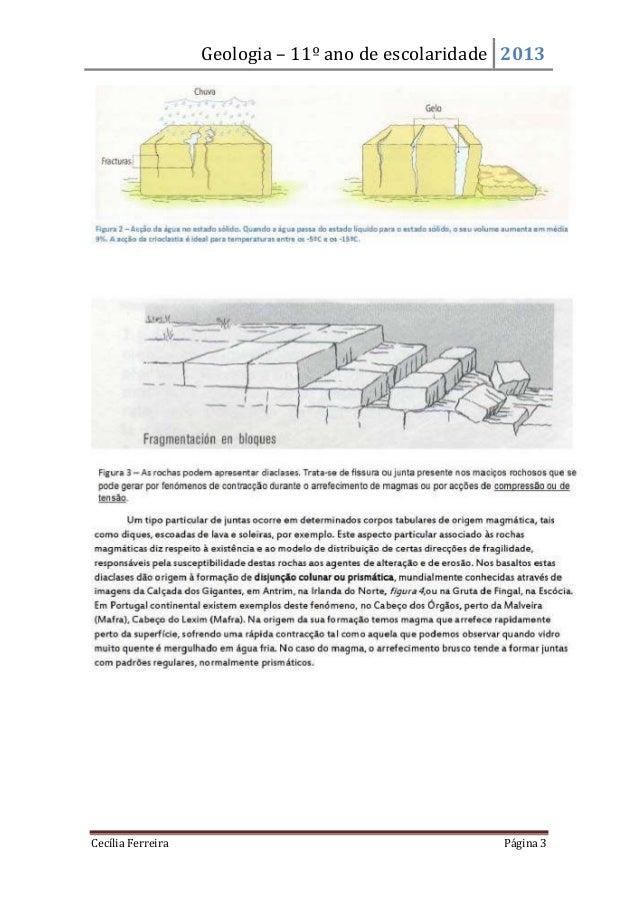 Geologia – 11º ano de escolaridade 2013Cecília Ferreira Página 3