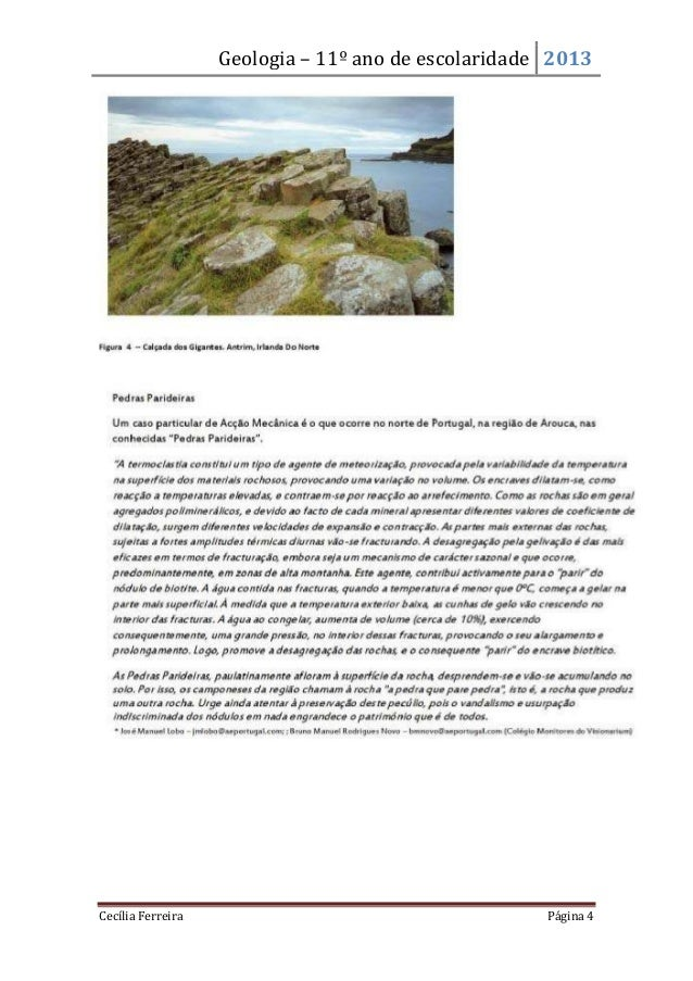 Geologia – 11º ano de escolaridade 2013Cecília Ferreira Página 4