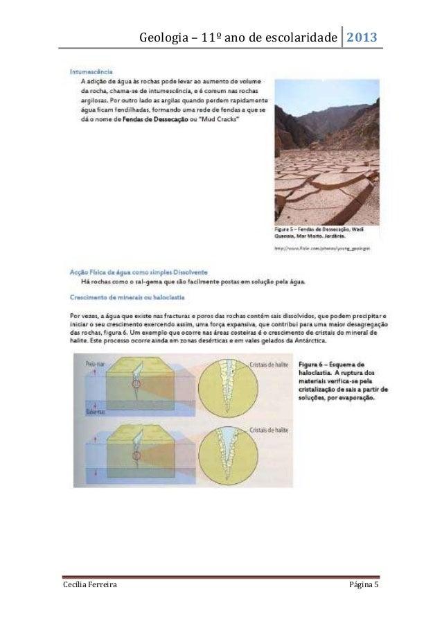 Geologia – 11º ano de escolaridade 2013Cecília Ferreira Página 5