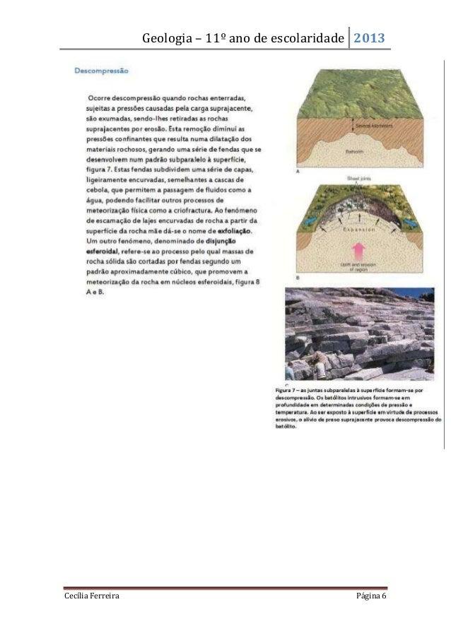Geologia – 11º ano de escolaridade 2013Cecília Ferreira Página 6
