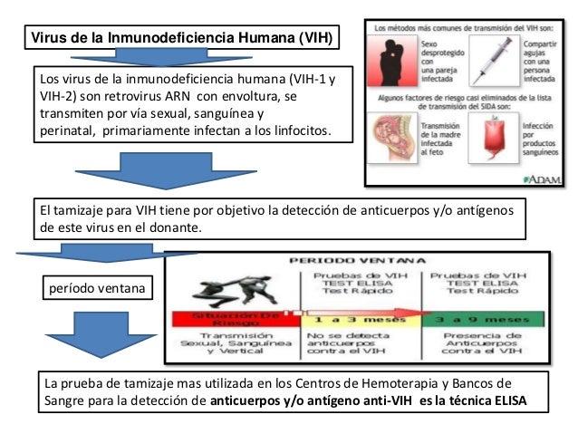 banco de sangre y Agentes hemotransmisibles