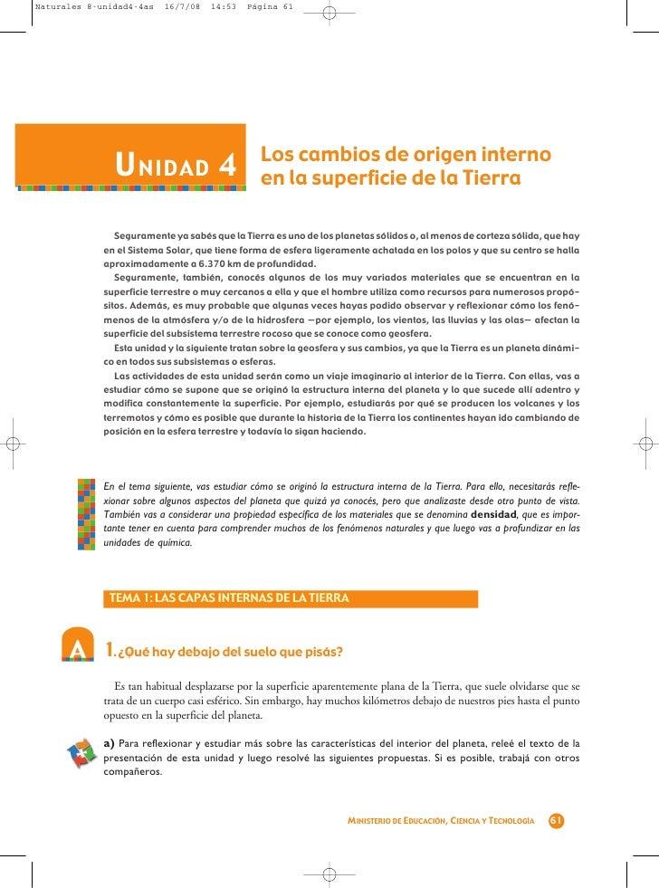 Naturales 8-unidad4-4as    16/7/08     14:53   Página 61               U NIDAD 4                           Los cambios de ...