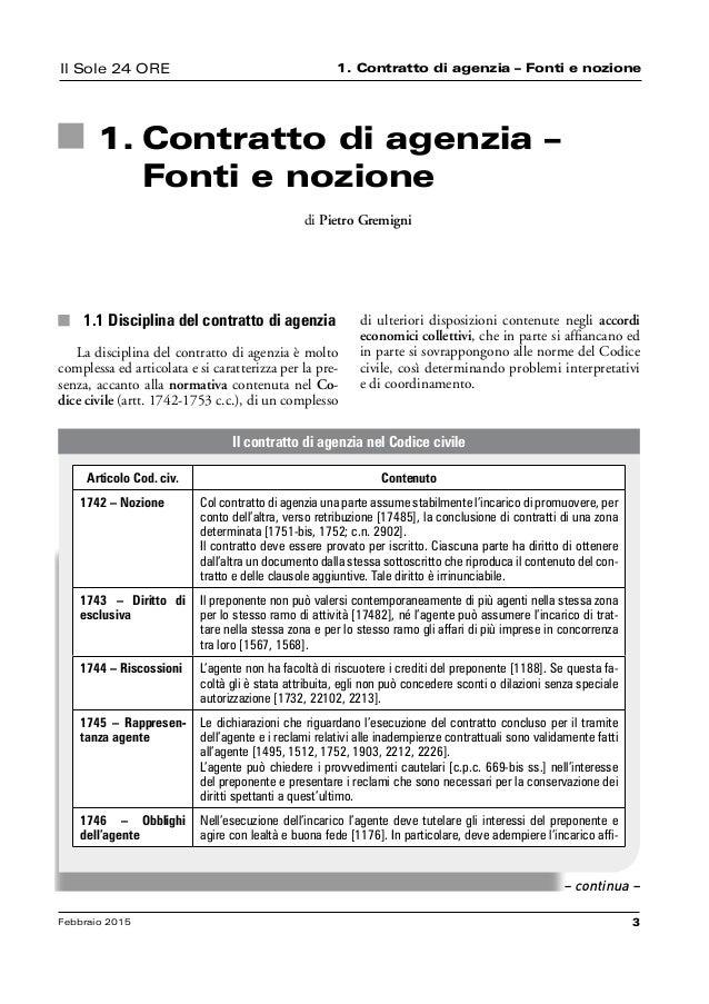 Agenti rappresentanti ilsole24ore - Contratto di compravendita immobiliare fac simile ...