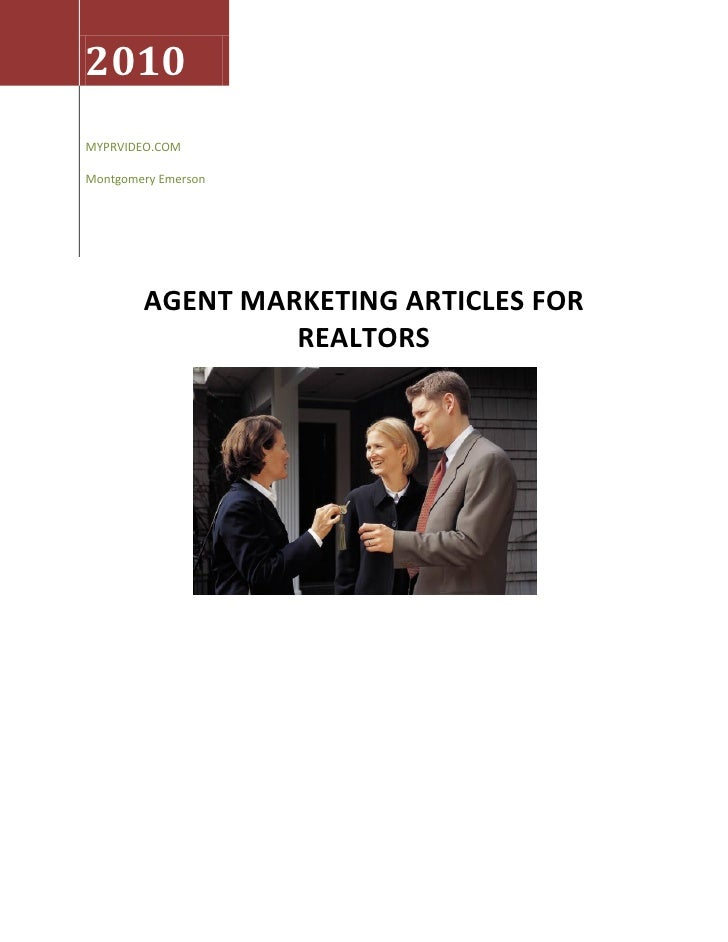 Agent marketing ideas   realtors