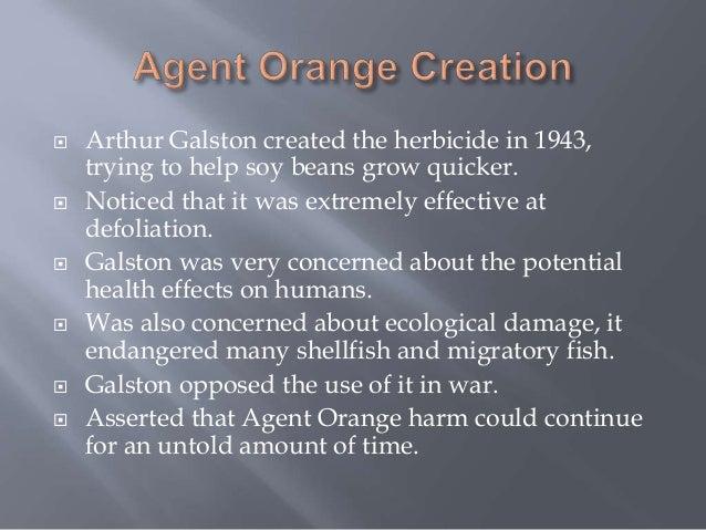 Agent Orange Spraying Effects