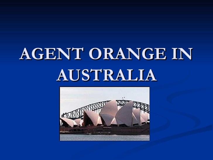 AGENT ORANGE IN AUSTRALIA
