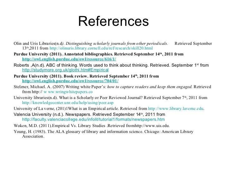 Annotated bibliography-cornell university library