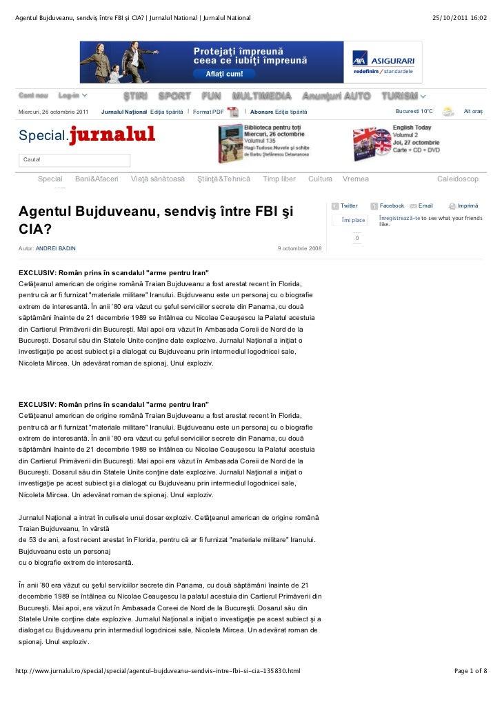 Agentul Bujduveanu, sendviş între FBI şi CIA? | Jurnalul National | Jurnalul National                                     ...