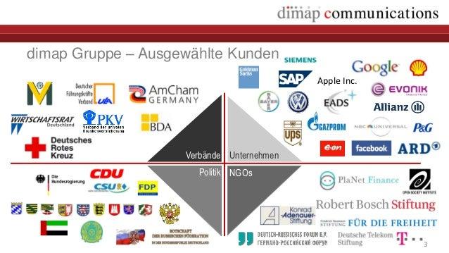 dimap Gruppe – Ausgewählte Kunden                                           Apple Inc.                    Verbände Unterne...