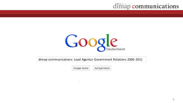 dimap communications: Lead Agentur Government Relations 2006-2011                                                         ...