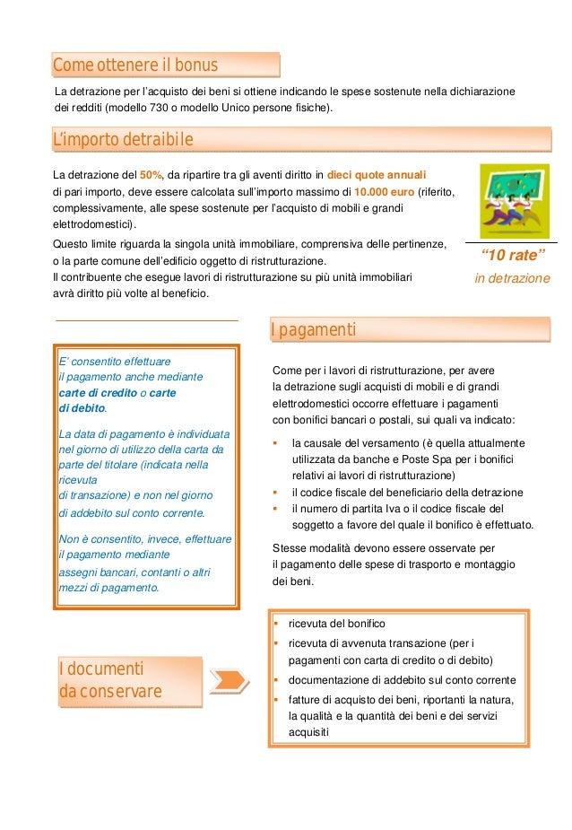 Guida agevolazioni fiscali acquisto mobili e elettrodomestici for Detrazione acquisto mobili