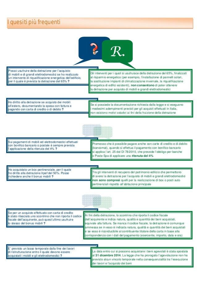 Guida Agevolazioni Fiscali Acquisto Mobili e Elettrodomestici