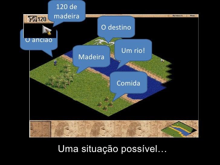 Uma situação possível… O ancião O destino Madeira Comida Um rio! 120 de madeira