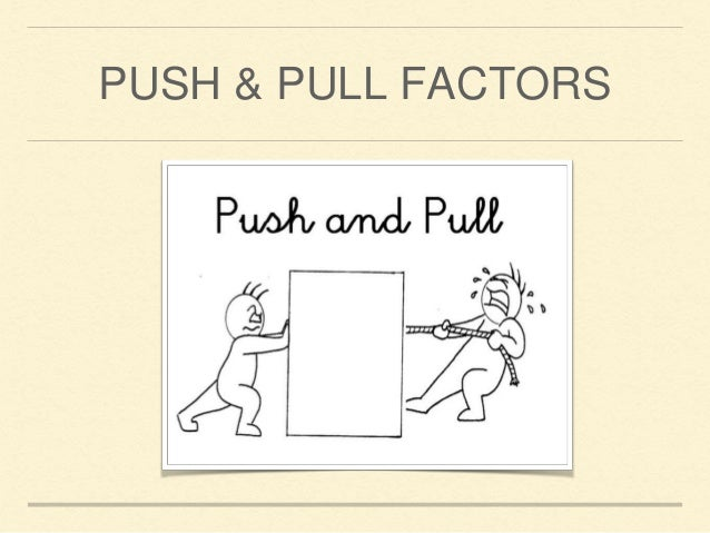 understanding the push and pull factors in decision making Structural approaches to understanding migration push-pull factors are used to understand the individual or family's decision making.