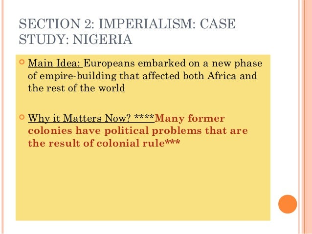 Colonialism in nigeria essay