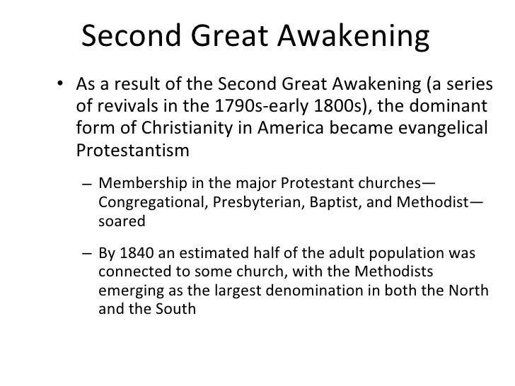 results of the second great awakening