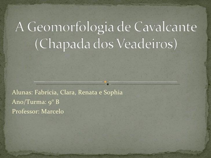 Alunas: Fabrícia, Clara, Renata e Sophia Ano/Turma: 9° B Professor: Marcelo