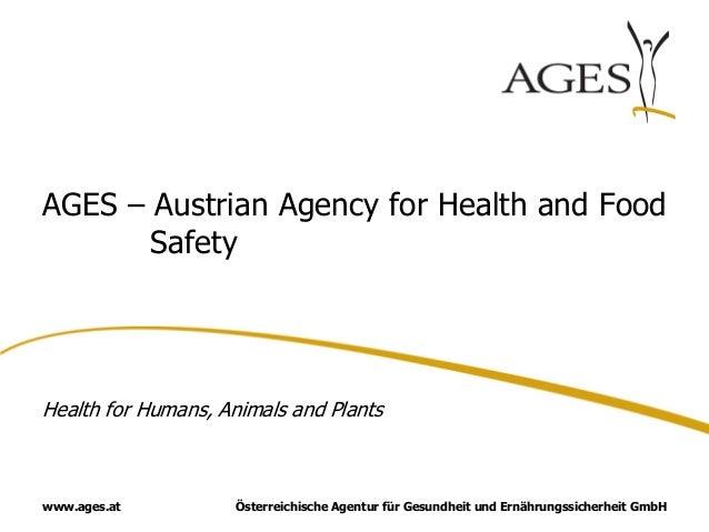 Österreichische Agentur für Gesundheit und Ernährungssicherheit GmbHwww.ages.atAGES – Austrian Agency for Health and FoodS...