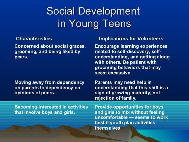 Social Development                in Young TeensCharacteristics                      Implications for VolunteersConcerned ...