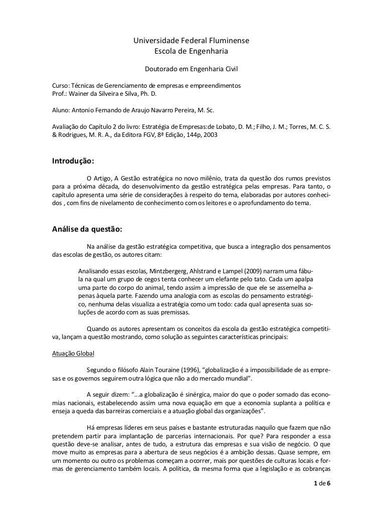 Universidade Federal Fluminense                                   Escola de Engenharia                                  Do...