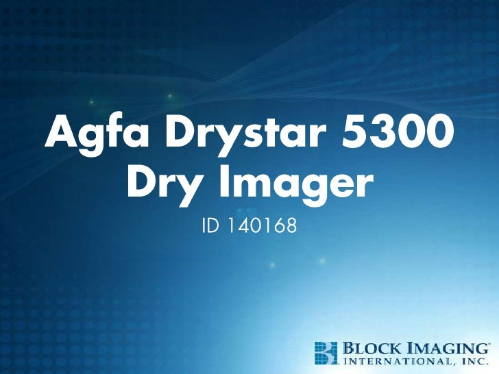 Agfa Drystar 5300Dry Imager<br />ID 140168<br />